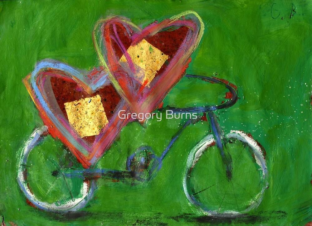 2 Hearts Biking as 1 by Gregory Burns