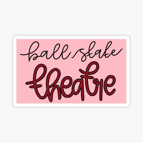 ball state cardinals theatre  Sticker