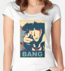 Cowboy Bebop - Bang - Spike Spiegel Women's Fitted Scoop T-Shirt