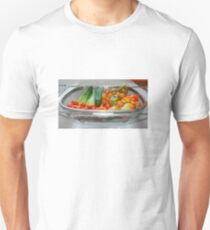 Tomato and Cucumber Harvest in Kitchen Sink Unisex T-Shirt