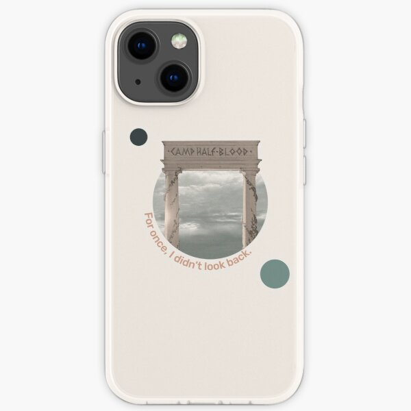 """""""For once, I didn't look back"""" The Last Olympian Quote iPhone Soft Case"""