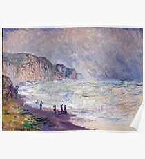 1897-Claude Monet-Heavy Sea at Pourville-73 x 101 Poster