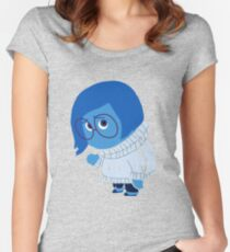 Sadness Women's Fitted Scoop T-Shirt