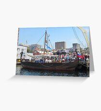 Russian Viking Ship 'Rusich' Greeting Card