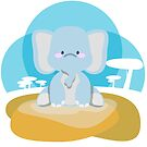 « a little pretty elephant » par Kewee