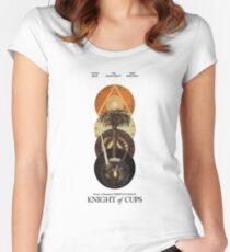 Knight Of Cups Poster Women's Fitted Scoop T-Shirt