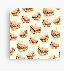 Watercolor Sandwich Canvas Print