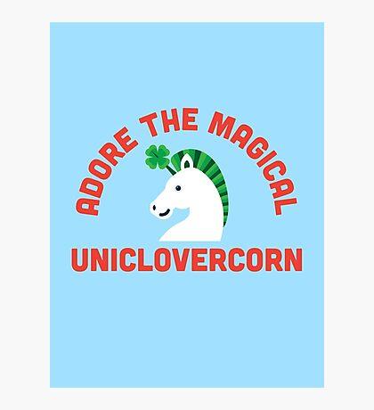 Adore the Magical Uniclovercorn Photographic Print