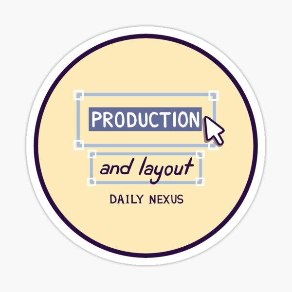 dailynexus production logo Sticker