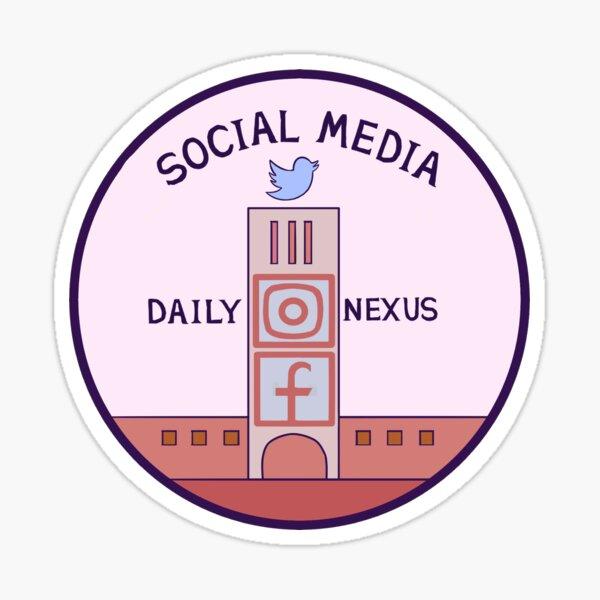dailynexus social media logo Sticker