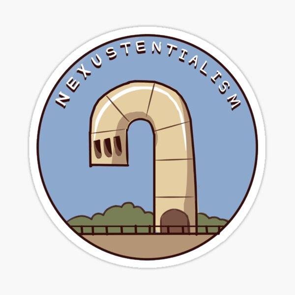 dailynexus nexustentialism logo Sticker