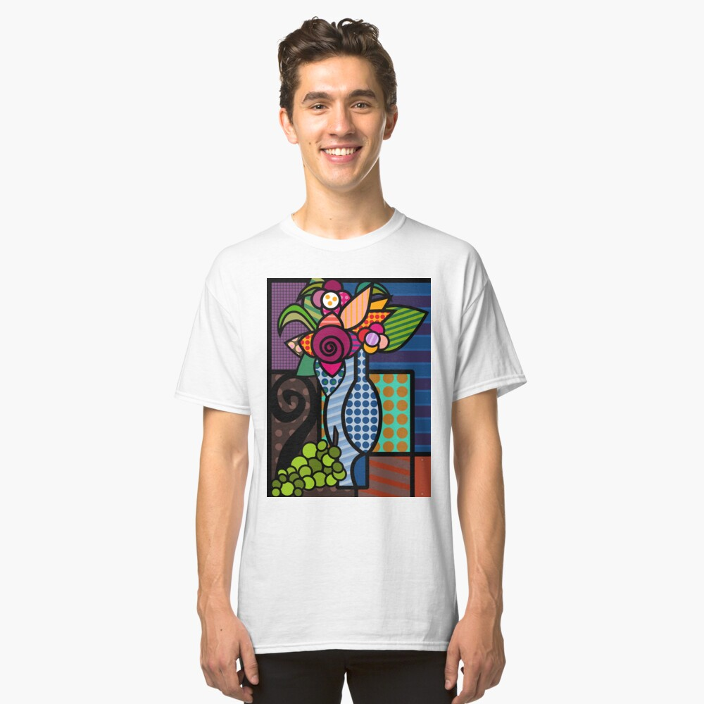 vase of flowers Classic T-Shirt Front