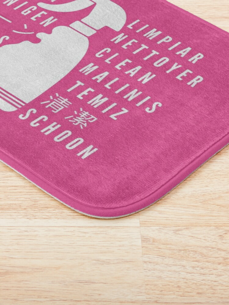 Alternate view of Clean in Every Language house cleaning cleaning lady gift Bath Mat