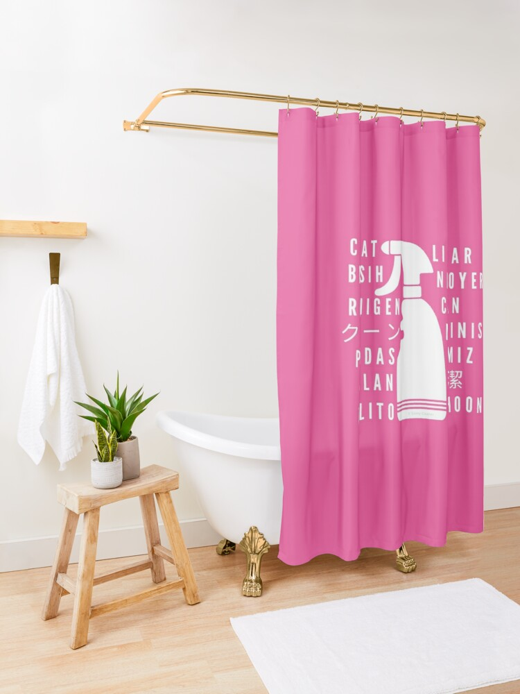 Alternate view of Clean in Every Language house cleaning cleaning lady gift Shower Curtain