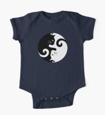 Ying Yang Cats - Black and white One Piece - Short Sleeve