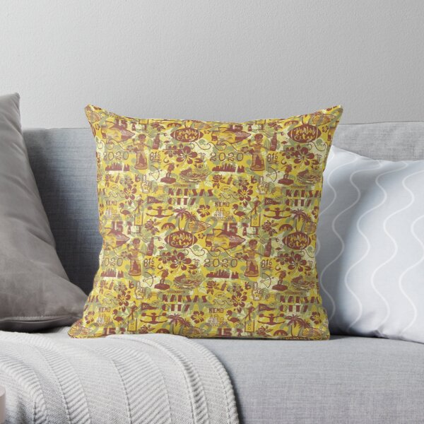 Kansas City Hawaiian world champs pattern Throw Pillow