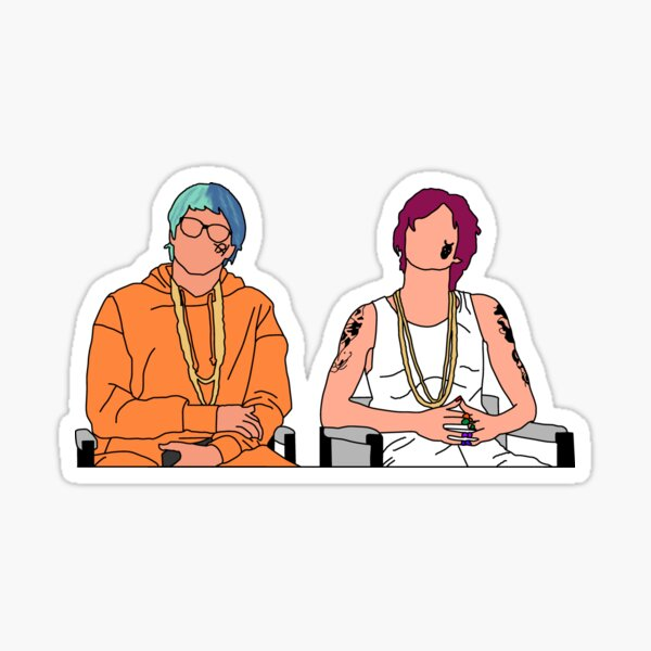 Pete and Timothy Sticker