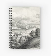 Darrynane Abbey - Ireland the Home of O'Connell - 1869 - Currier & Ives Spiral Notebook