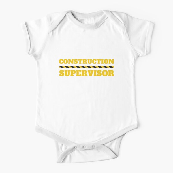 Construction Supervisor Funny Kids Toddler Baby DIY Shirt Short Sleeve Baby One-Piece
