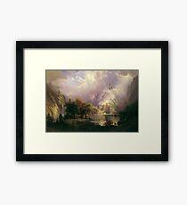 Albert Bierstadt - Rocky Mountain Landscape 1870 American Landscape Framed Print