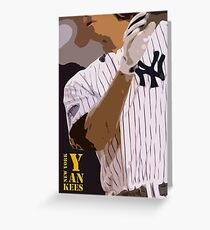 Baseball, New York Yankees, and bat Greeting Card