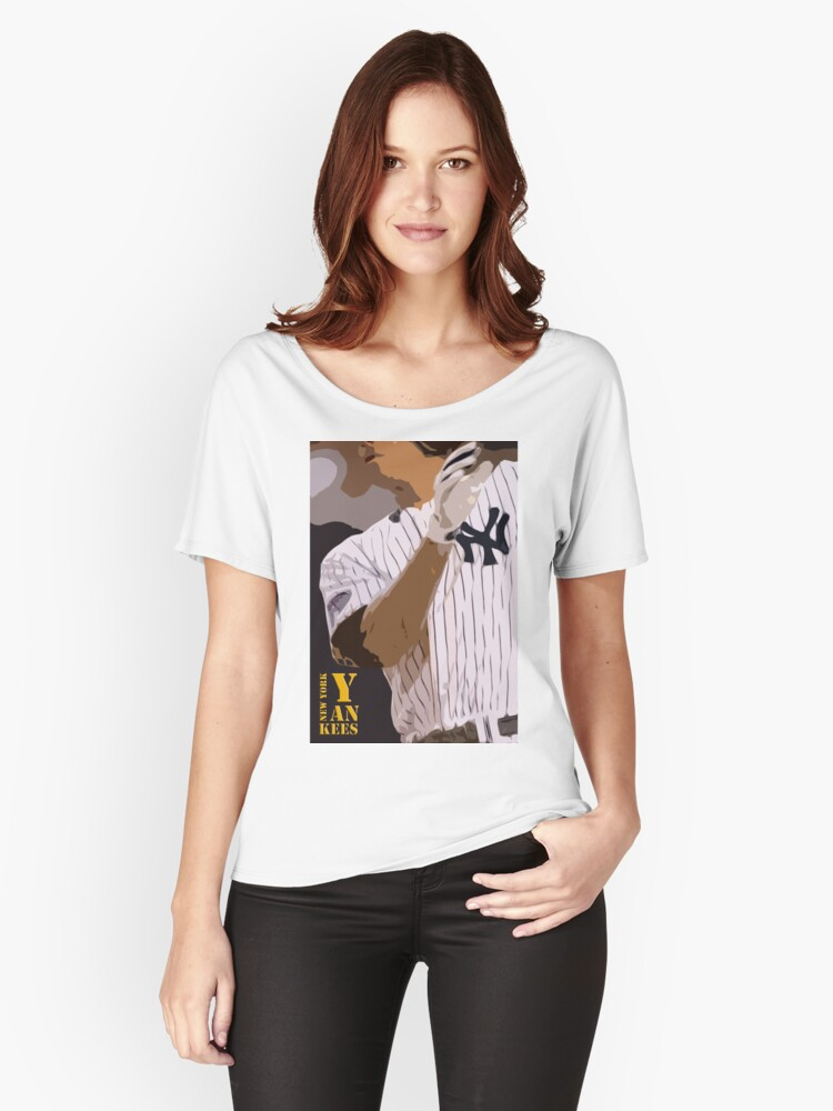 Camisetas anchas para mujer «Béisbol, New York Yankees, y bate» de ...