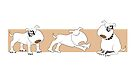 Bull Terriers 2 by Diana-Lee Saville