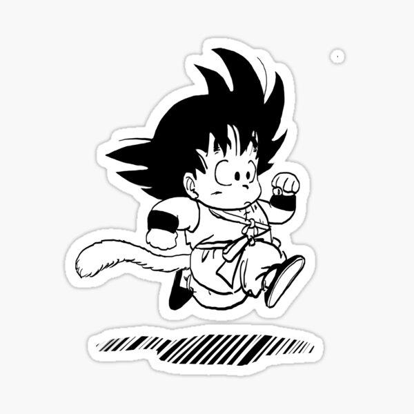 Kid Goku on the Run Sticker