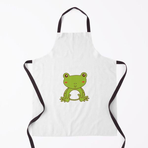 Kitchen Dining Supernatural Linen Frogs Apron Frog Prince Decor Kids Custom Full Woodland Animals Gardening Home Living