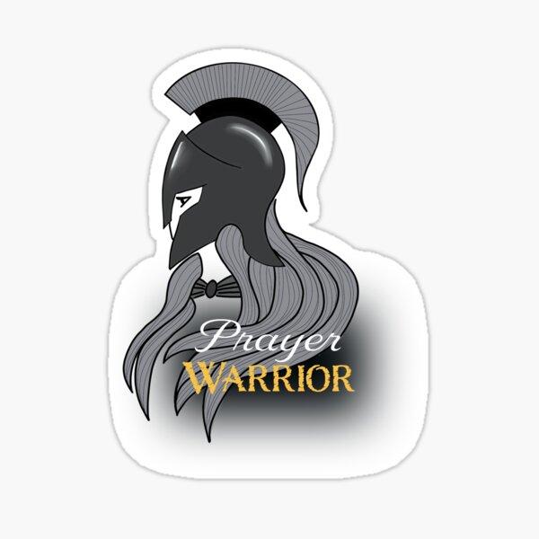 Spartan Prayer Warrior for Women Sticker
