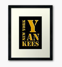 New York Yankees typography Framed Print