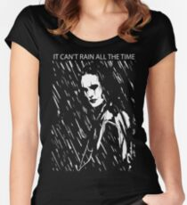 it can't rain all the time Women's Fitted Scoop T-Shirt