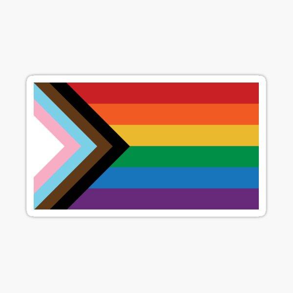 Progress Pride Flag LGBTQ+ BIPOC Inclusive Queer Pride Flag Sticker