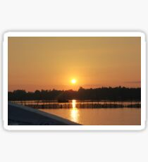 Lagoon Sunrise, Sri Lanka Sticker