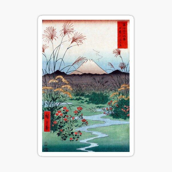 Utagawa Hiroshige Ōtsuki Plain in Kai Province Sticker