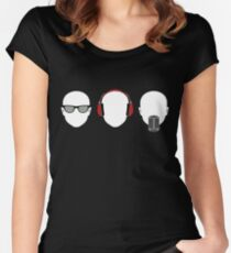 """See No Evil, Hear No Evil, Speak No Evil"" Women's Fitted Scoop T-Shirt"