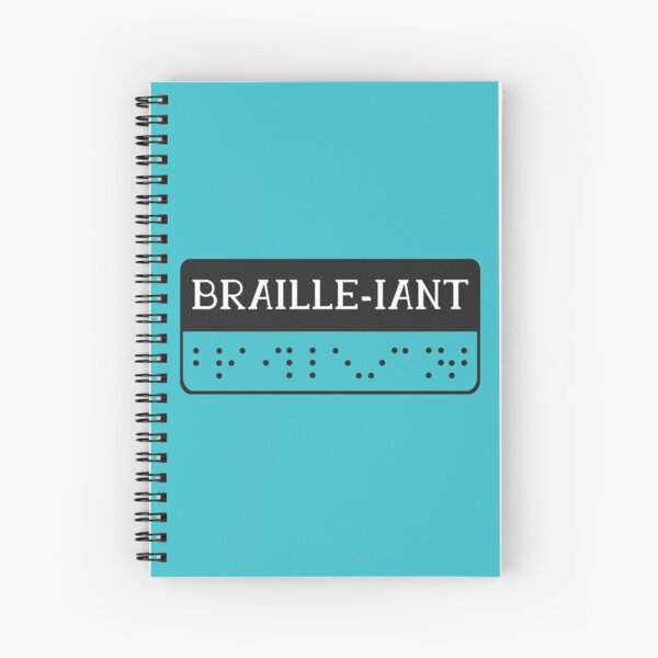 Braille pun Spiral Notebook