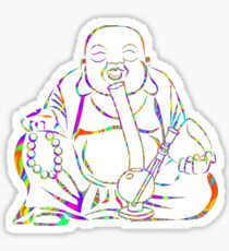 Buddha Smoking Bong Sticker