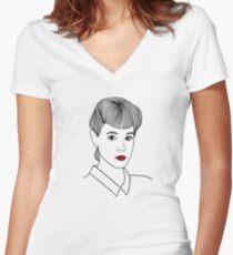 Rachael. Blade Runner Women's Fitted V-Neck T-Shirt
