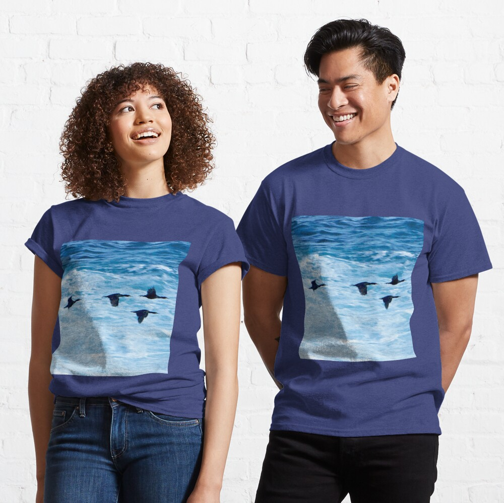 Cormorants  Skimming the Waves off Inishmore Classic T-Shirt