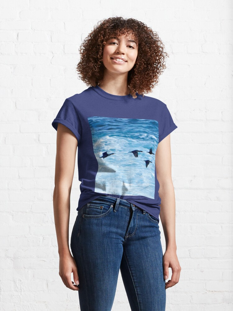 Alternate view of Cormorants  Skimming the Waves off Inishmore Classic T-Shirt
