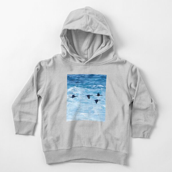 Cormorants  Skimming the Waves off Inishmore Toddler Pullover Hoodie