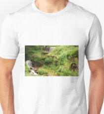Mill Water Wheel and Stream T-Shirt