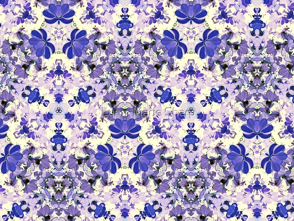 Vintage Purple and Ivory Floral by Marie Sharp