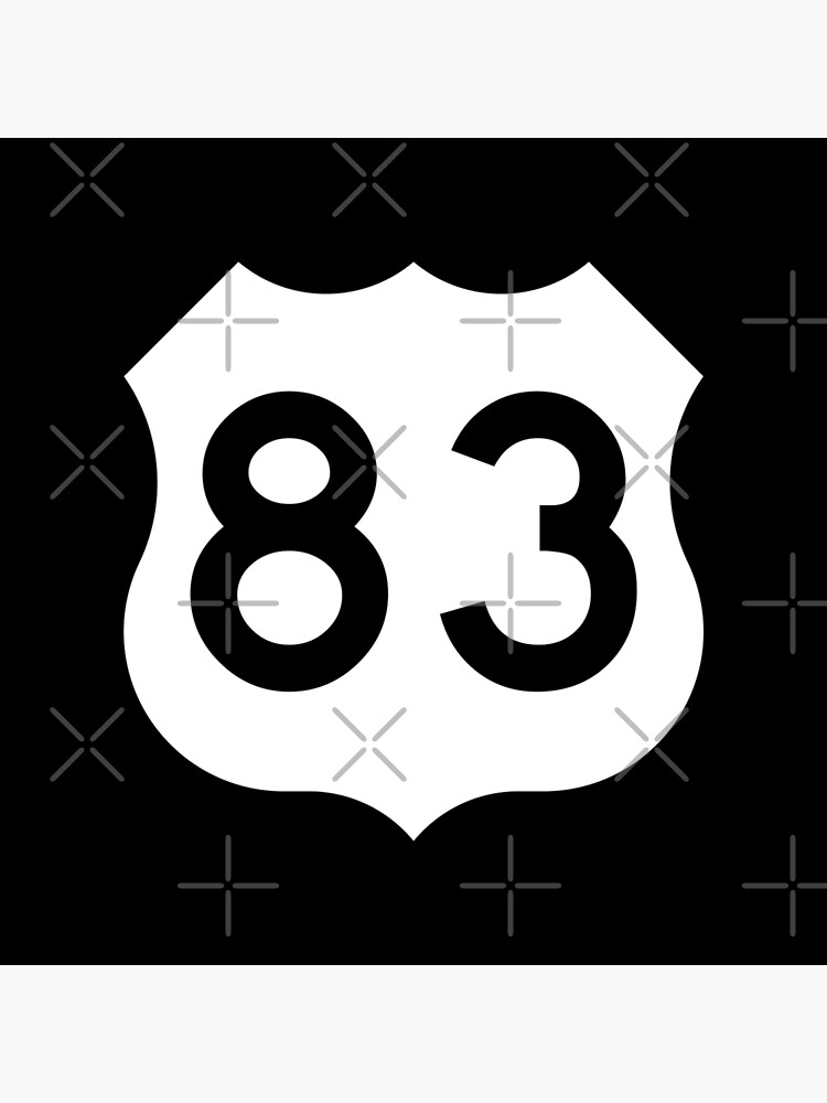 US Route 83 Sign, USA - Regular Version   Poster