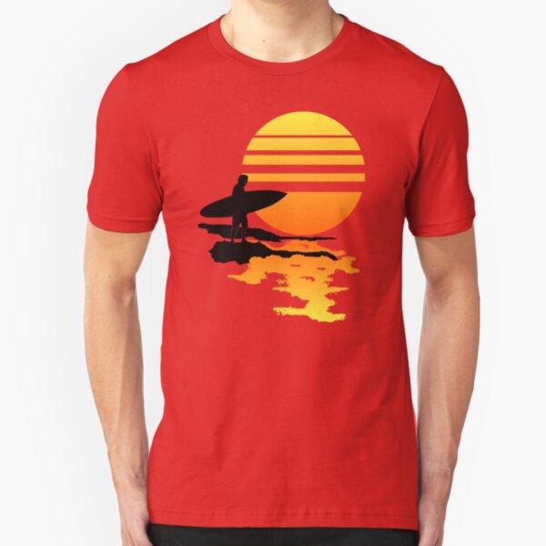 Surfing Sunrise Slim Fit T-Shirt