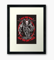 ROAD WARRIOR: WEZ Framed Print