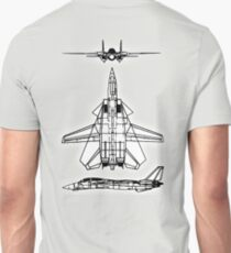 JET, FIGHTER, Aircraft, America, American, Grumman, F-14, Tomcat, DRAWING, supersonic, twin-engine, two-seat, variable-sweep wing,  T-Shirt