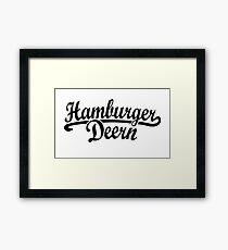Hamburger Deern Classic (Schwarz) Framed Print
