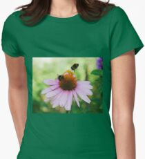 Echinacea Purpurea with Bees  T-Shirt